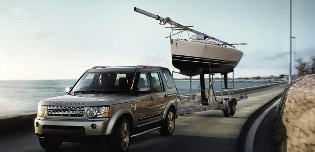 A hire car towing a boat
