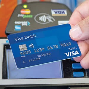 pay with a debit card